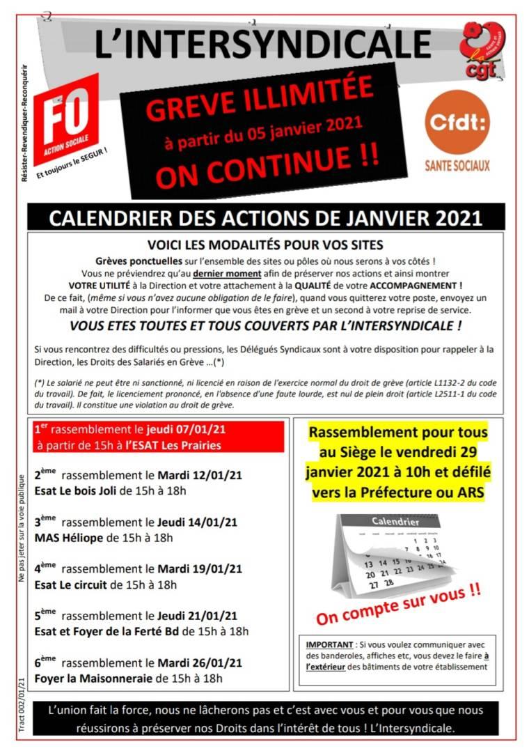 Grève illimitée ADAPEI de la Sarthe